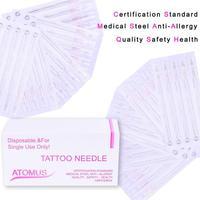 100 STKS 3RS om 9RS Wenkbrauw Tattoo Naald Permanente Make Handleiding Pick Borduren Tattoo Machine Steriele Naald