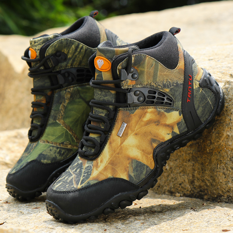 Hot Sale Men Breathable Camouflage Boots Outdoor Army High Top Fashion Casual Shoes Military Tactical Desert Boots