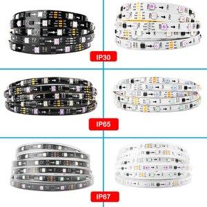 Image 5 - 5 20m Muziek controle LED Strip set Droom kleur WS2811 LED Strip 5050 RGB SP106E Muziek controller RF afstandsbediening, 12V Adapter voor Party