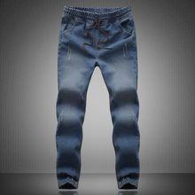 Мужчины Жан Бегунов Мужские Моды Джинсовые Бегунов Голеностопного Длина Шаровары Мужчин Случайные Спортивной Jogger джинсы pantalon homme 100405