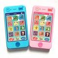 Crianças simulationp educacional das crianças de música Do Telefone móvel telefone de brinquedo mais recente versão de idioma russo telefone de brinquedo do Bebê