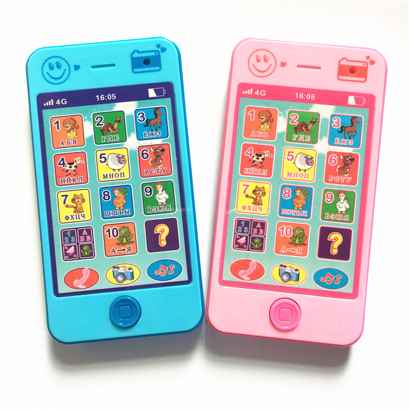 Kids Phone children s educational simulationp music mobile toy phone latest version of russian language Baby