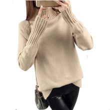 FANMUER Winter Autumn Turtleneck Pullovers Sweaters Primer shirt long sleeve Korean Slim-fit tight turtleneck women sweater
