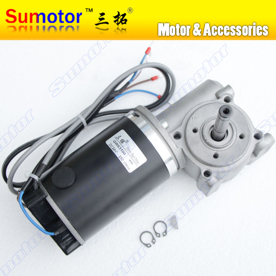 GW63100 250rpm DC 24V 250N*cm Worm Gear Reducer Electric Motor Automotic door system Glass door motor with encoder sensor oil pump oiler kit with worm gear springchainsaw 034 036 ms360 worm