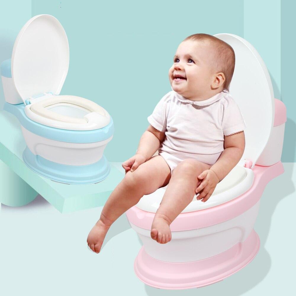 Kinder Simulation Mini Wc Infant Pony Eimer Töpfchen Sitz Tragbare Toilette Ausbildung Urinal Potties Ergonomische Rückenlehne Design