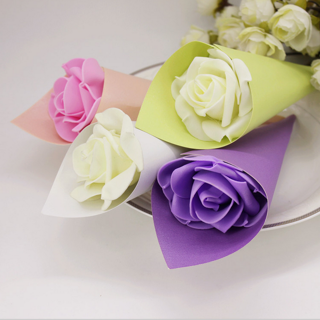 Aliexpress.com : Buy 50 x White Pink Purple Green Wedding Favors ...