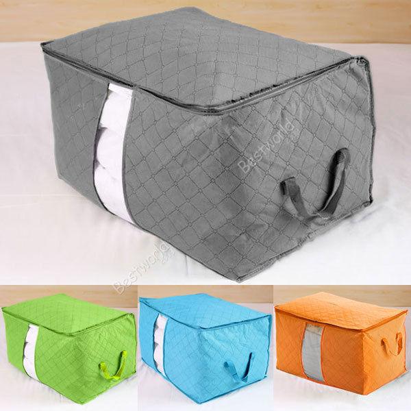 Новый стиль TLarge джамбо постельных принадлежностей пододеяльник сжатые ручки складной сумка для хранения Box контейнер 4 цвет бесплатная доставка