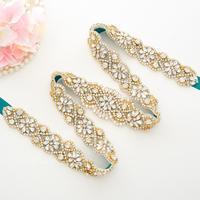 Thin Crystal Wedding Belt Hand Beaded Belt Rhinestones Bridal Belt For Wedding Evening Dresses A156G