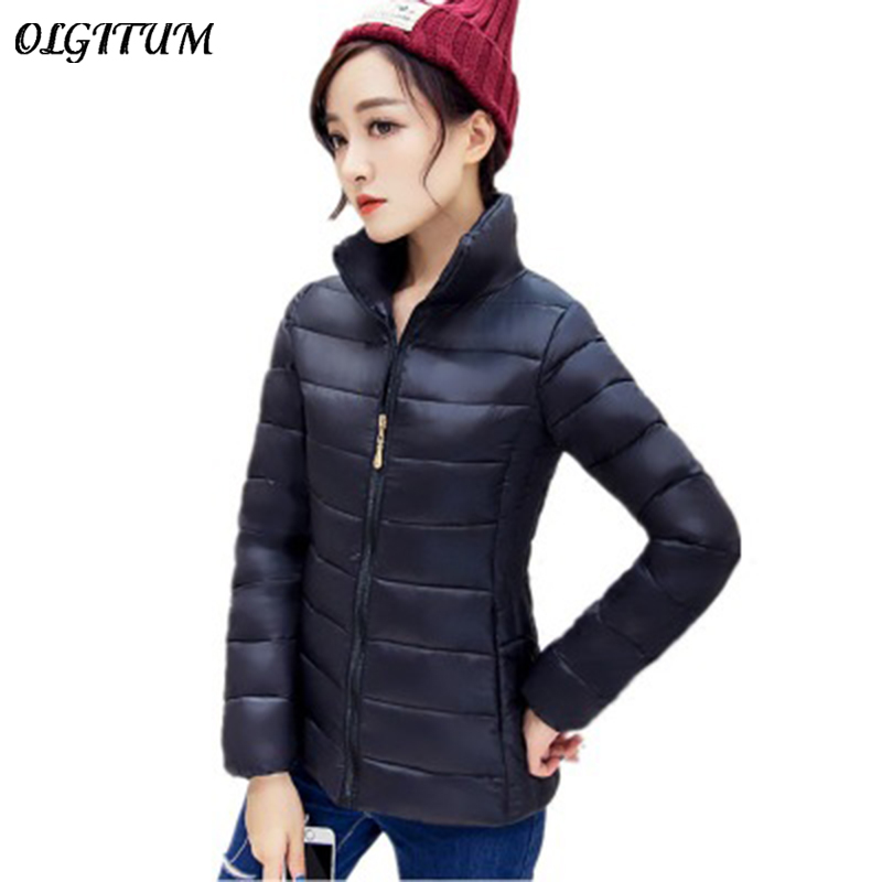 2018 trend new short paragraph Ladies stand collar down coat jacket thin section Slim Korean fashion women warm jacket 7 colors