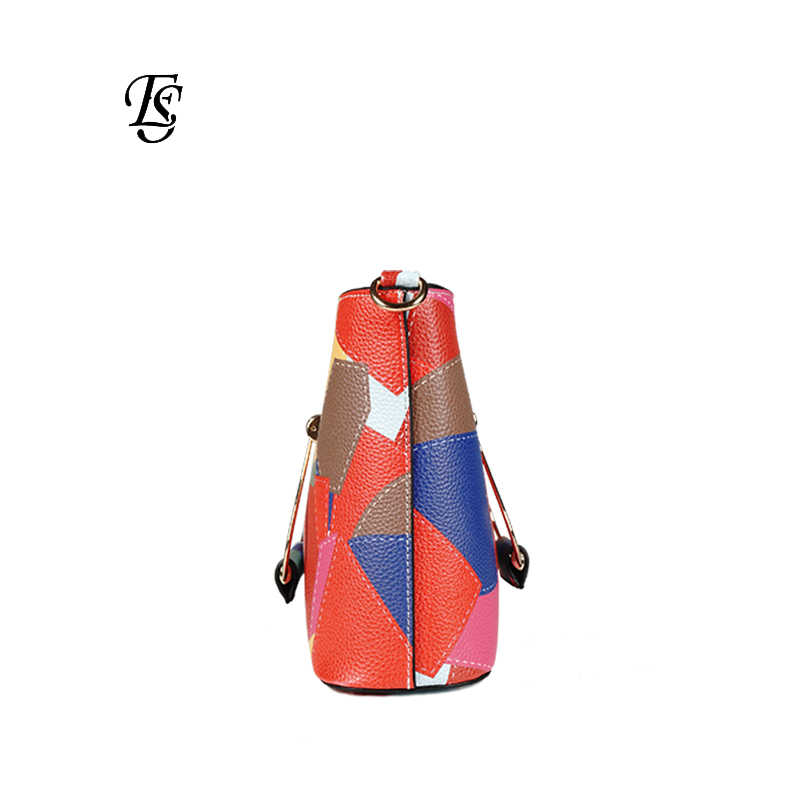 b34d3759ef46 ... Patchwork Shoulder Bags Womens 2018 New Fashion Casual PU Leather  Shoulder Bag Flap Colorful Small Crossbody ...