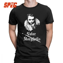 Arya Stark Game Of Thrones T Shirt Men Valar Morghulis House Vintage Clothes Tee 100% Cotton Round Neck T-Shirt