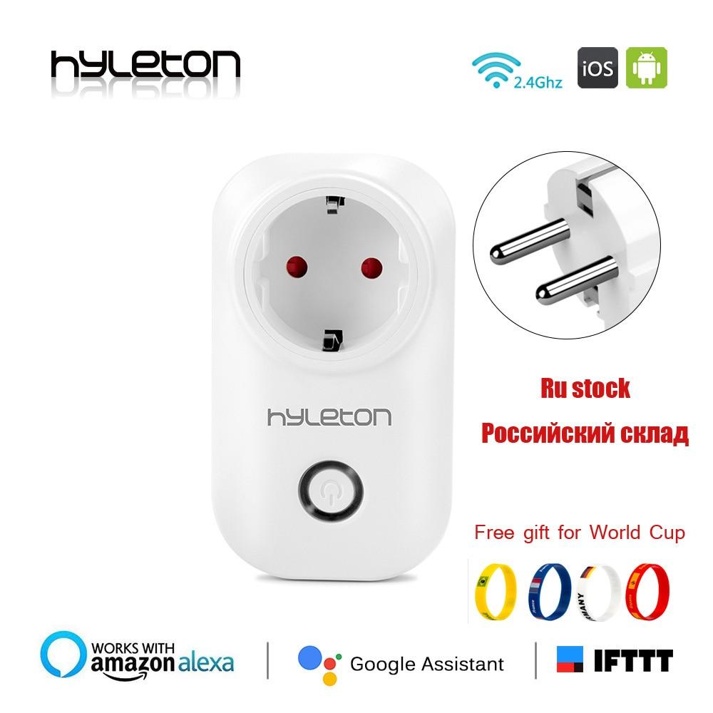 Hyleton smart plug wifi socket remote control switch 10A Support 2.4GHz Wifi plug Networks Electrical EU/US/AU/UK Power Switch