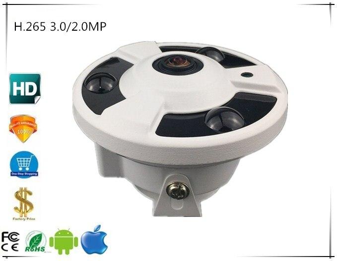 Panorama FishEye 3516E C Sony IMX291 IP Dome Camera StarLight 3 0 2 0MP 1080P H