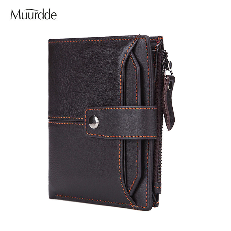 2018 Genuine Leather Wallet Men Coin Multifunction Purse Male Cuzdan PORTFOLIO Portomonee Small Mini Walet Pocket Fashion Purse