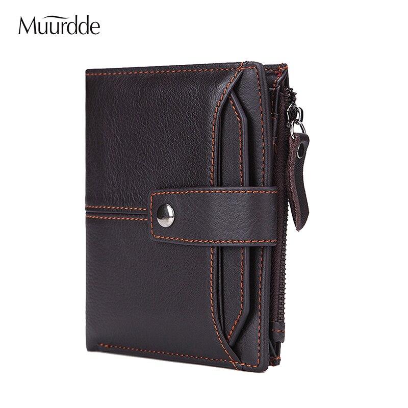 2018 echtem Leder Brieftasche Männer Münze Multifunktions Geldbörse Männlichen Cuzdan PORTFOLIO Portomonee Kleine Mini Walet Tasche Mode Geldbörse