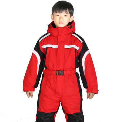 Ücretsiz Kargo çocuk Sıcak Su Geçirmez Kayak Takım Elbise Set Açık Spor Tek Parça Su Geçirmez Kış Mont Snowboard