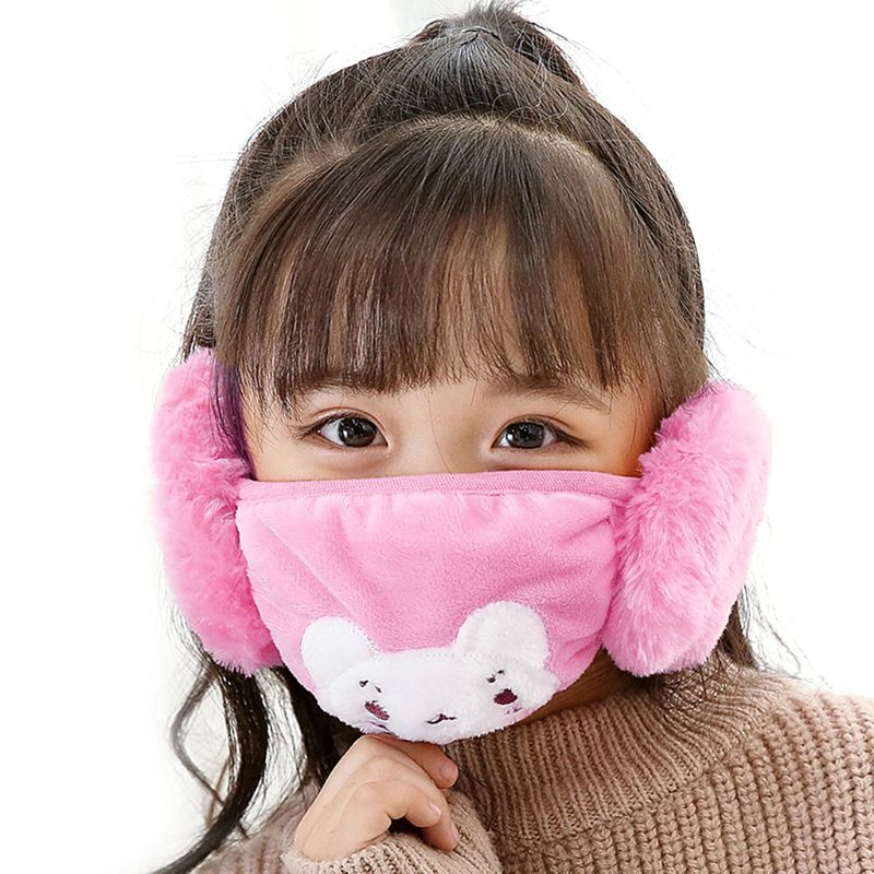 Children Kids Cartoon Winter Warm Windproof Mask Anti-Dust Mouth Face Masks Protective Cover