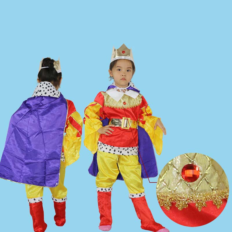 Provided Special Child Royal Cape Christmas Prince Luxury King Crown Princess Costume Kids Carnival Girls Toys Red Cape Home