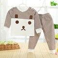 Высокое качество Осенние детская одежда установить хлопок 100% новорожденных девочек мальчики зимняя одежда детская одежда набор 2 шт. Детей bebes одежда набор