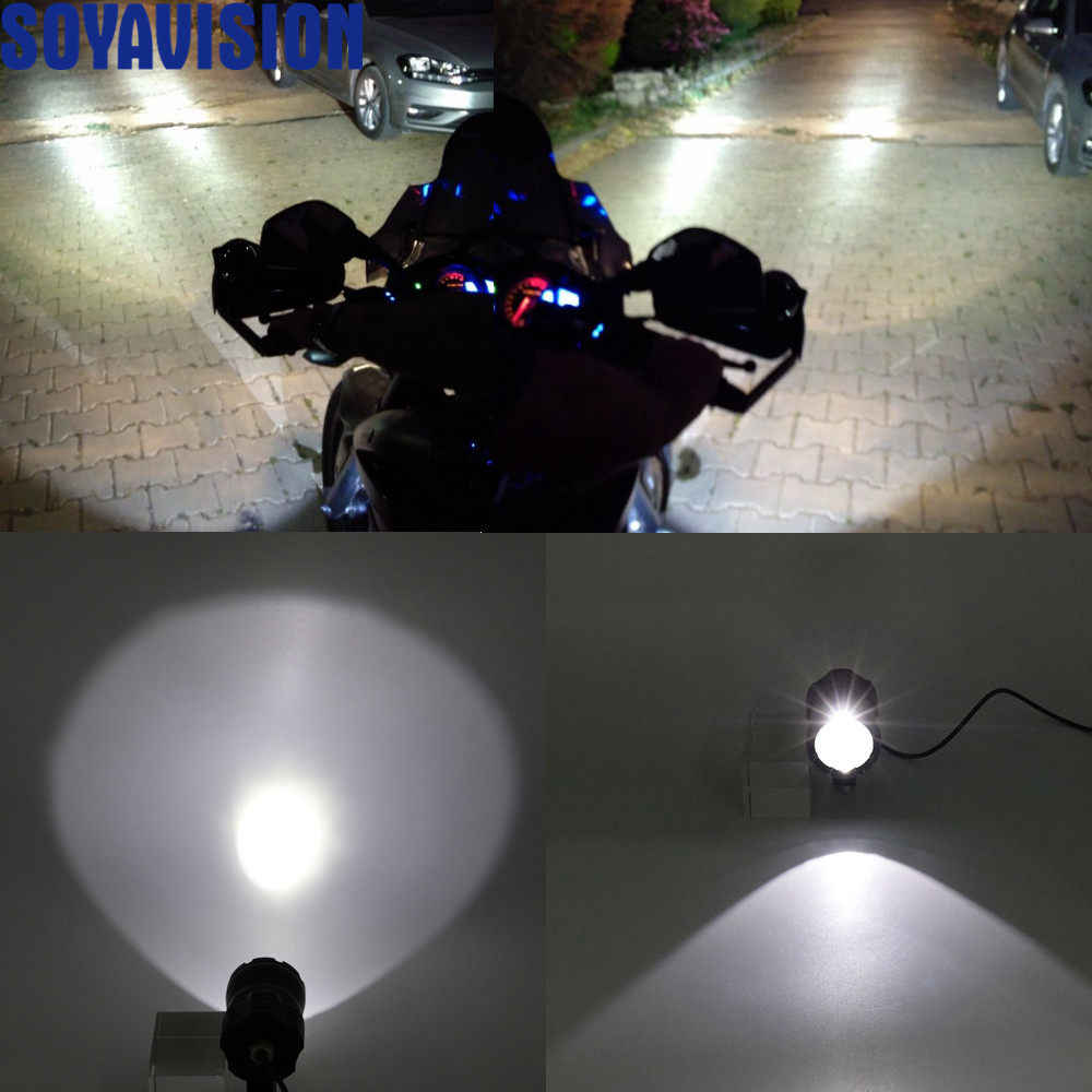 Universal Motorcycle Car headlight lamp IP67 LED Bright Fog light For Yamaha Kawasaki BMW 1200GS F800GS Honda KTM Harley