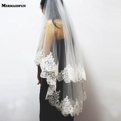Двухслойная кружевная вуаль с расческой, двухслойная, с блестками, с кружевной кромкой, 2-слойная, 0,9 метра, Тюлевая, свадебная фата, платье 2020