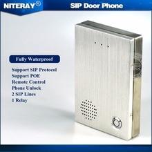 Audio Porte SIP Téléphone IP Sonnette SIP Interphone Système de Contrôle D'accès Porte Cloche Compatible Avec Asterisk/Alcatel/Avaya/Cisco PBX