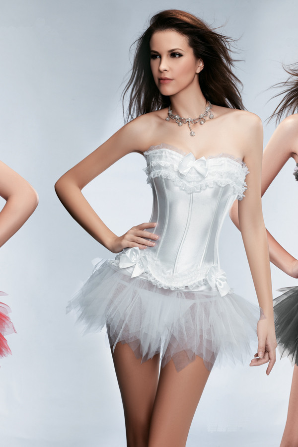 2014-New-Sexy-Satin-Lingerie-Lace-Corset-Top-G-string-Skirt-Bustier-Mini-Tutu-Wedding-Dress (1)