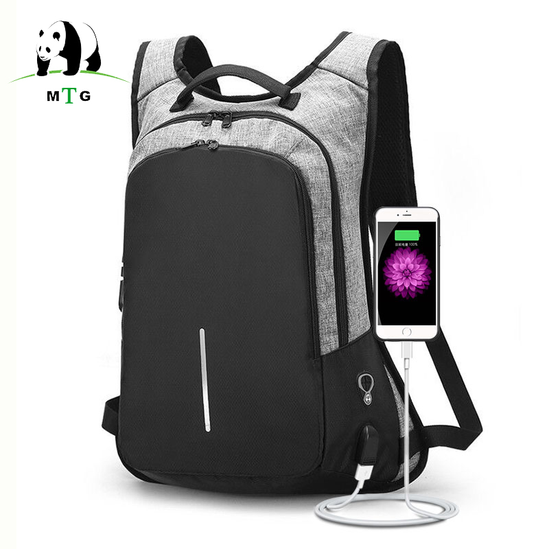 все цены на Anti-theft Backpack USB Charging Men Laptop Backpacks For Teenagers Male Waterproof Travel Backpack School Bag Mochila Dropship