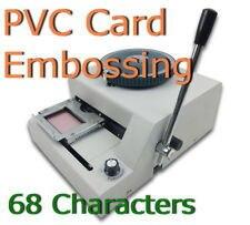 Guarantee 100% new manual 70 code letterpress pvc card embossing.