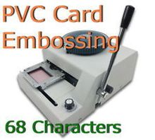 Stamping Machine MANUAL 68 LETTER Magnetic ID PVC Plastic Card  membership Card Embosser Embossing Machine FAST SHIPPING