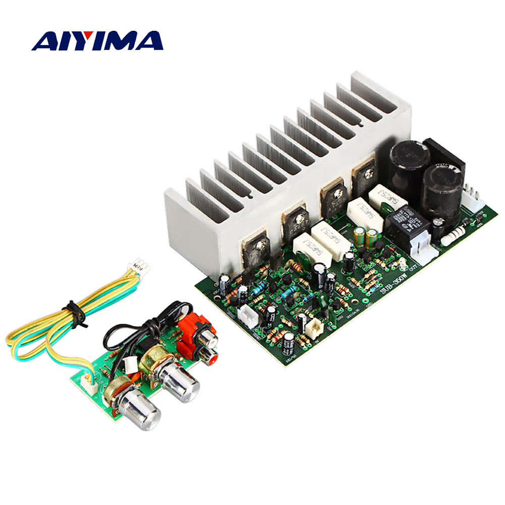 AIYIMA A1695 C4467 350W High Power Subwoofer Amplifier Board Woofer Audio Stereo amplifier for DIY Speaker Dual AC24V 28V
