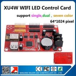 Калер njing Калер светодиодный дисплей управления карты Новое поступление на борту Wi-Fi сигнала Wi-Fi платы управления xu4w 64x1024 пикселей один цвет