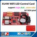 Njing KALER из светодиодов дисплей контрольную карту новое поступление на борту wi-fi сигнала wi-fi управления карты XU4W 64 x 1024 пикселей одного цвета