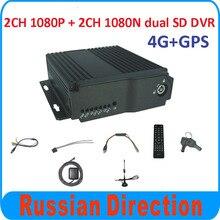 4CH HD vehicle blackbox dvr bus dvr 4ch 4G GPS mobile dvr