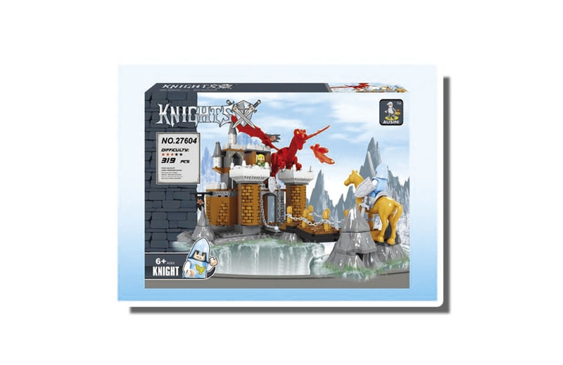 Ausini Model building kits compatible with lego city Knights castle wars 042 3D blocks Educational toys hobbies for children lepin 02012 city deepwater exploration vessel 60095 building blocks policeman toys children compatible with lego gift kid sets