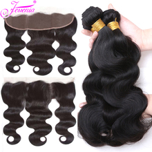 Body Wave 3 Bundles With Frontal Malaysian Hair with Closure Remy Human Hair Weave Bundles With 13*4 Ear to Ear Lace Closure 8a free shipping malaysian body wave 4 by 4 inch lace frontal closure with 2 bundles body wave hair weft black bouncy nlwhair