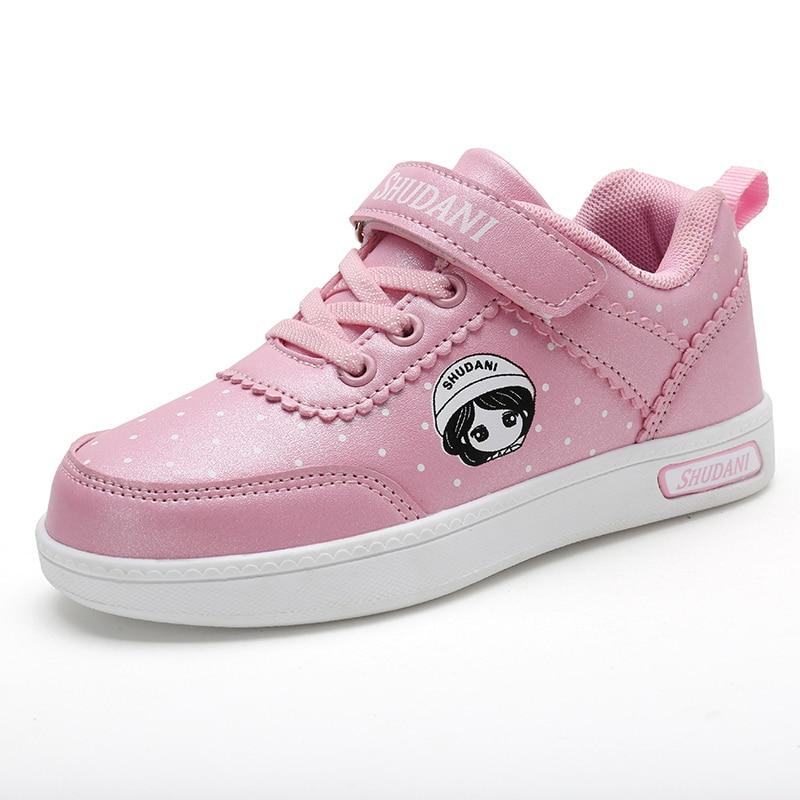 2018 Herbst Neue Stil Kinder Skateboard Schuhe Mädchen Turnschuhe Kinder Outdoor Sport Schuhe Pu Leder Laufschuhe Für Kind Einfach Zu Verwenden