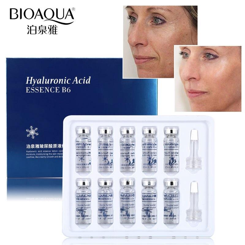 BIOAQUA 10pcs/Set Anti Wrinkle Moisturizing Hyaluronic Acid Vitamins Serum Facial Skin Care Anti Aging Collagen Essence Liquid