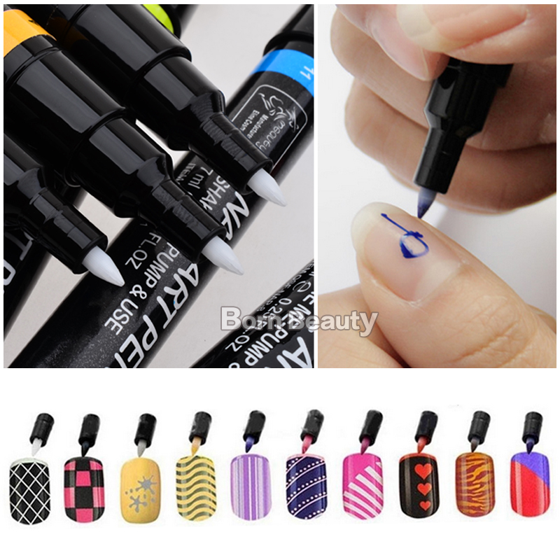 Pro 12colors Set New Design Nail Art Pen Painting Paint Drawing French Manicures Tools Beautiful