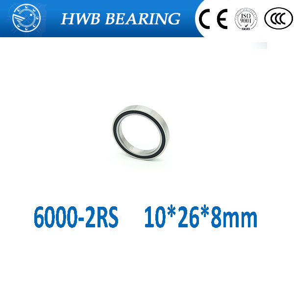 Free Shipping 6000-2RS 10x26 x8 mm Hybrid Ceramic deep groove ball bearing 6000 2RS 6000RS 10*26*8mm for bike part single row 8mm x 16mm x 5mm deep groove ball bearing for electric hammer 26