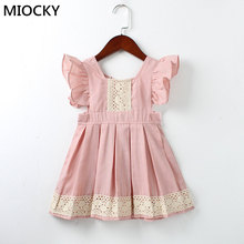 Baby Girls Dress Autumn Style ruffles lace Backless Dresses For Girls Vintage Toddler Girl Clothing 1-5Yrs bebe vestidos E0225 baby girls dress brand summer beach style floral print party backless dresses for girls vintage toddler girl clothing 1 8yrs