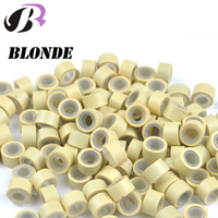 Wholesale Co Tube Silicon Micro Ring 1000pcs Lot Silicon Lined Micro Links Rings Beads Hair Feather