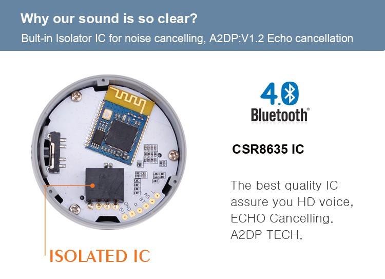 Poziom hałasu anulowanie zestaw samochodowy bluetooth AUX zbudowany w izolowane IC 7