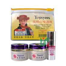лучшая цена NEW Topsyees HIGH RANRING WHITE OF RED Face Care Set day cream+nigh cream+pearl cream anti freckle face care (purple cover)
