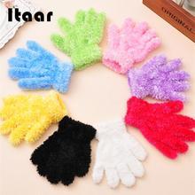 Перчатки для танцев мягкие многоцветные Плюшевые Вязаные детские подарки для выступлений детский сад зима