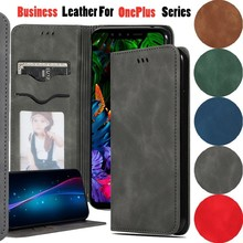 Luxury Flip Case For OnePlus 7 Pro Leather PU Vintage Card Slot Magnetic Phone Bags Cover 6T Cases Wallet Book Coque
