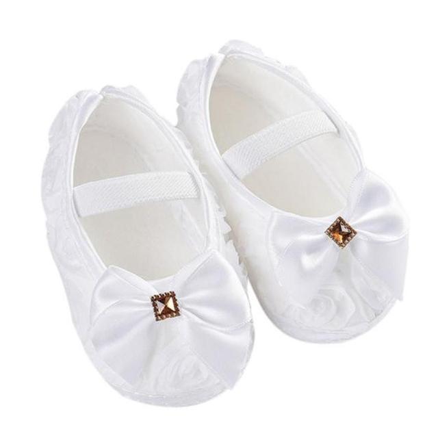 Для маленьких девочек Обувь для малышей для маленьких детей для маленьких девочек роза бантом Эластичная лента новорожденных красный, Белый розового и фиолетового цветов Обувь для прогулок