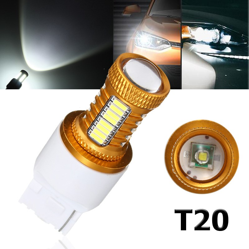 2pcs 4014 32SMD  T20 7443 600LM 17W Car Auto LED Light White Turn Signal Lamp Bulb Daytime Running Light DRL DC 12V qvvcev 2pcs new car led fog lamps 60w 9005 hb3 auto foglight drl headlight daytime running light lamp bulb pure white dc12v