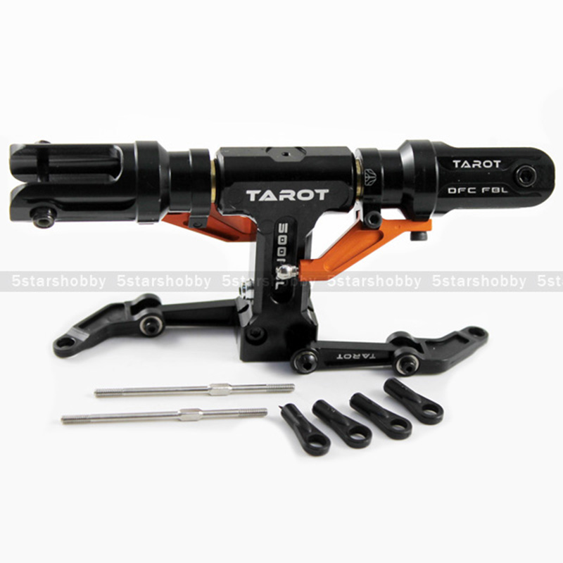 Tarot 500 Flybarless Main Rotor Head for Trex 500 Helicopter Black & orange color tarot 450 flybarless helicopter main rotor head black for align trex 450 helicopter tl45110 07