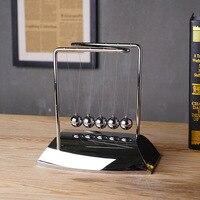 DIY stainless steel thickened mirror Newton pendulum ball, billiard ball, bump ball, permanent motion craft decoration